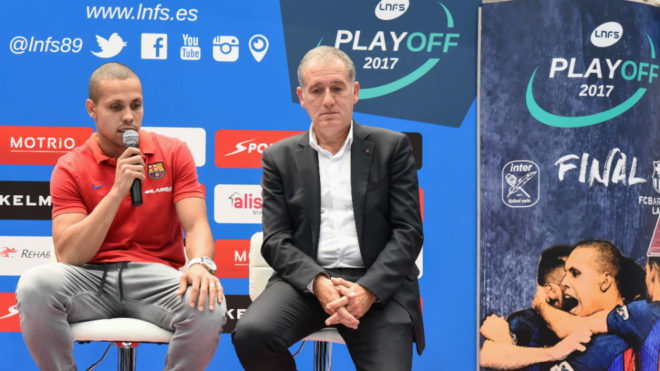 Ferrao y Andreu Plaza, durante la presentación de la final de la...