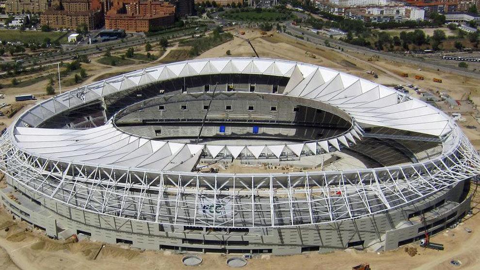 Estado de las obras del Wanda Metropolitano