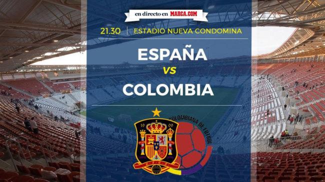 España vs Colombia en directo