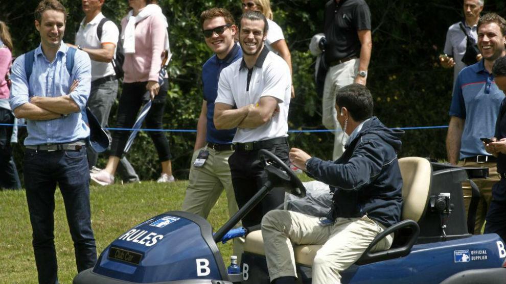 Bale en un torneo de Golf
