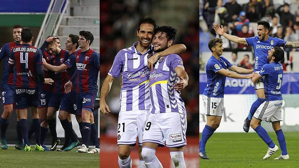 Huesca, Valladolid y Oviedo quieran cerrar la jornada con la alegría...