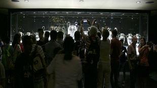 Madridistas visitando la Duodécima