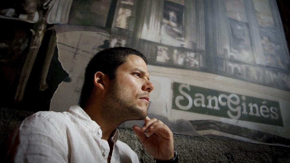 Ignacio Dean, en la Chocolatería San Ginés.