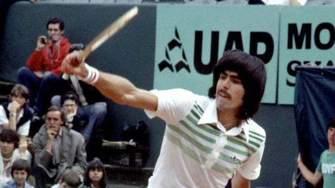 Raúl Ramírez, en 1974 en Roland Garros.