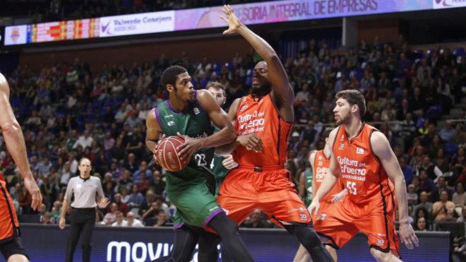 Brooks, en un encuentro de esta temporada ante el Valencia Basket.