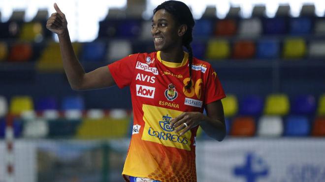 Sandy Cabral, autora del último gol de España.