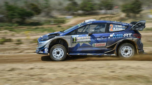 Ott Tänak, en su Ford Fiesta RS WRC .