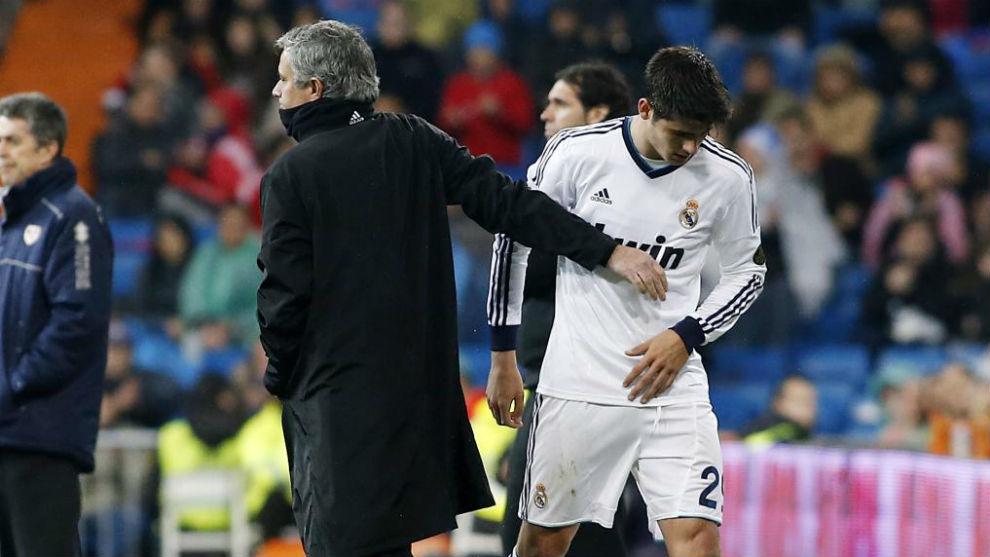 Mourinho y Morata en el Real Madrid