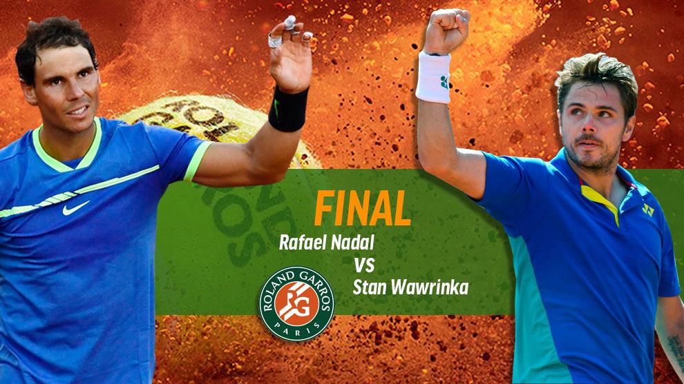 Final Roland Garros 2017 - Nadal vs Wawrinka