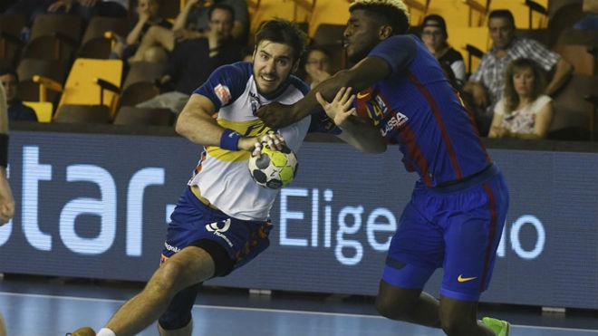 Marc Cañellas, en la semifinal de Copa frente al Barcelona