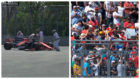 Fernando Alonso se mezcla con los espectadores despu�s de abandonar...