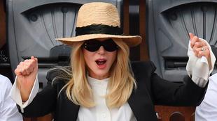 La actriz Nicole Kidman estuvo en la final del décimo Roland Garros...