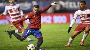 Berenguer durante un partido contra el Granada