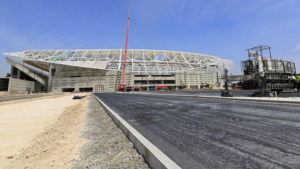 Obras en los alrededores del Wanda Metropolitano.