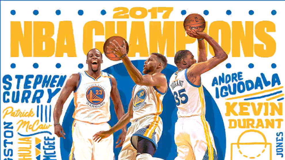 Resultado de imagen para los warriors campeones de la NBA 2017