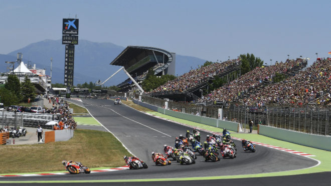 Pedrosa lidera la salida del GP de Catalunya.