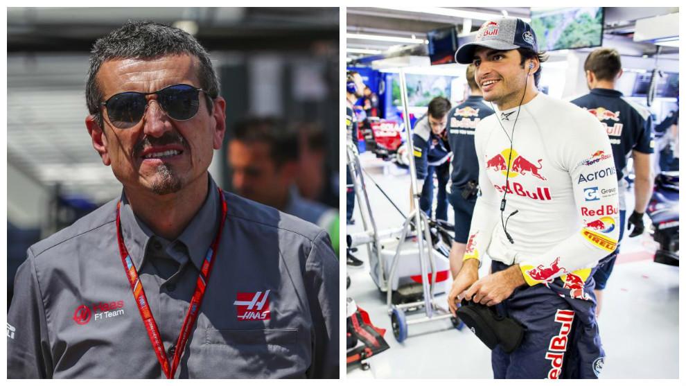 Gunther Steiner y Carlos Sainz