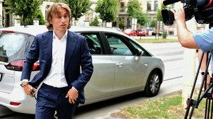 Modric, a su llegada al juicio