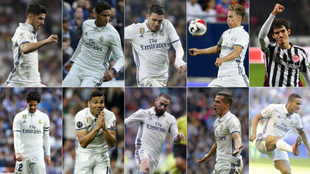 Asensio, Varane, Kovacic, Marcos Llorente, Vallejo, Isco, Casemiro,...