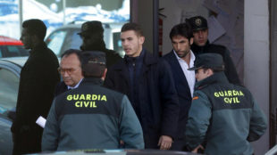 Lucas, saliendo de los juzgados el pasado mes de febrero