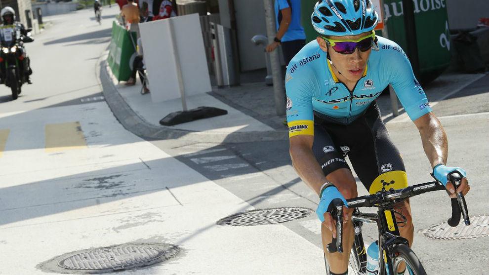 Miguel Ángel López, el martes en la Vuelta a Suiza.