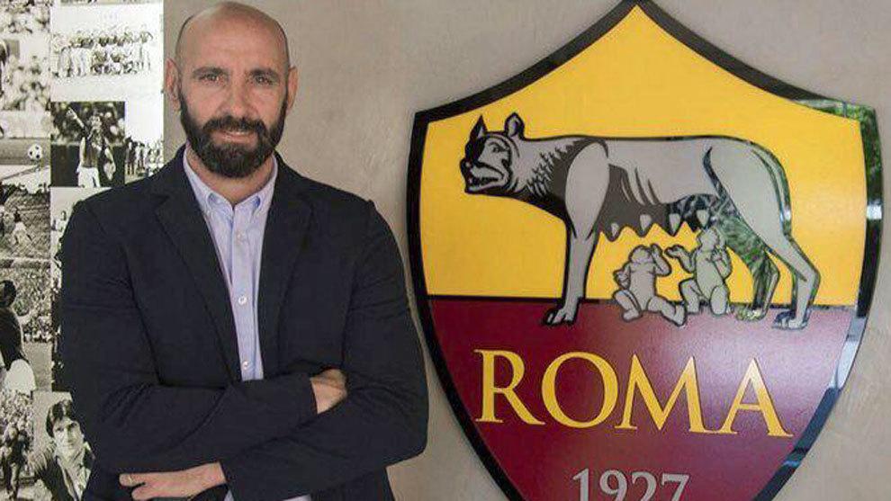 Monchi, el día de su presentación con la Roma