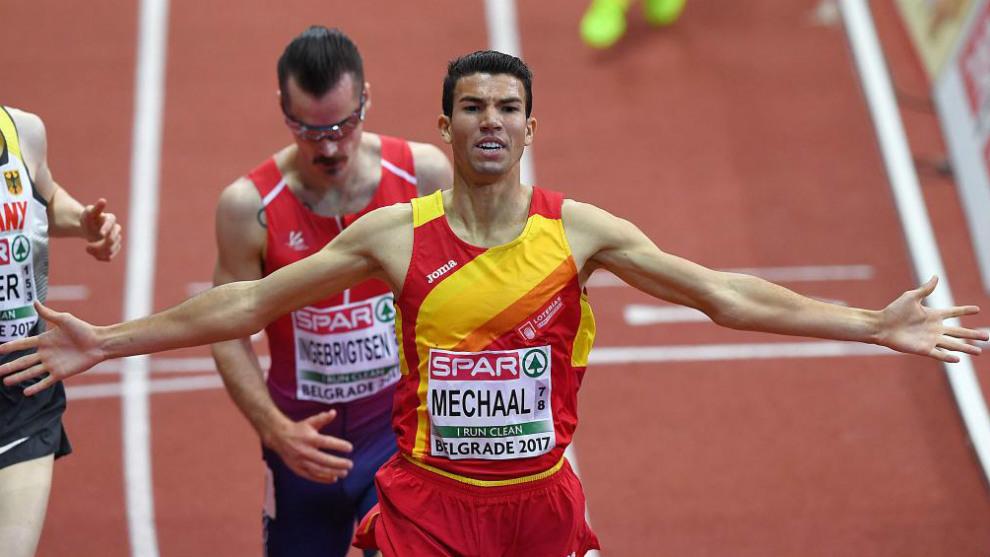 Mechaal se impone en los 3.000 metros del pasado Europeo 'indoor' de...