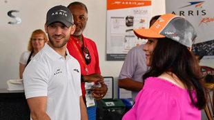 Suárez, con su equipo ARRIS-Telcel-Toyota-Juniper.