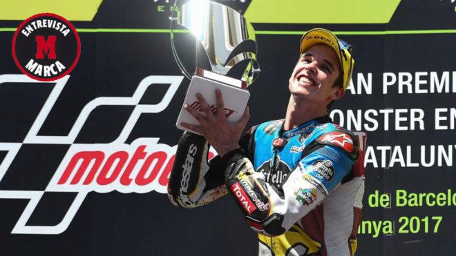 Álex Márquez celebra su victoria en el pasado GP de Catalunya de...