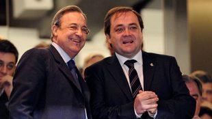 Florentino Pérez y Jokin Aperribay