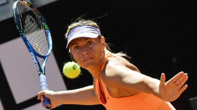 Maria Sharapova en el Torneo de Roma.