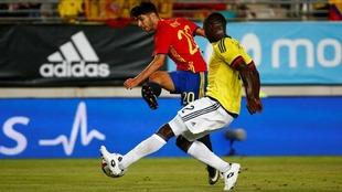 Marco Asensio, en un partido con España.