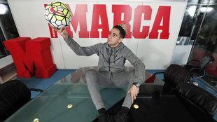Omar Mascarell, en la redacción de MARCA.