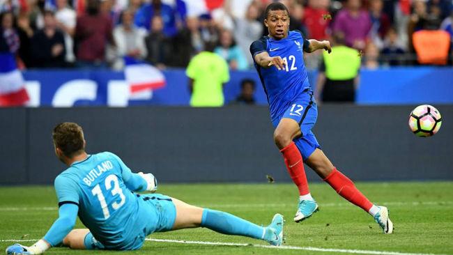 Mbapp�, en el amistoso Francia-Inglatrerra del pasado martes