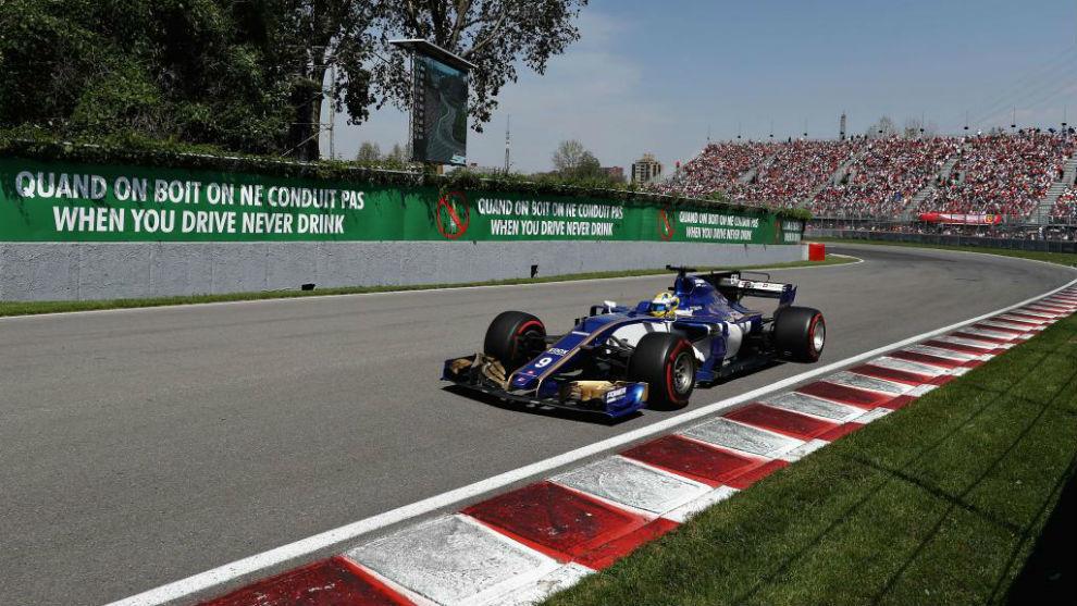 Marcus Ericsson, en el Gran Premio de Canadá