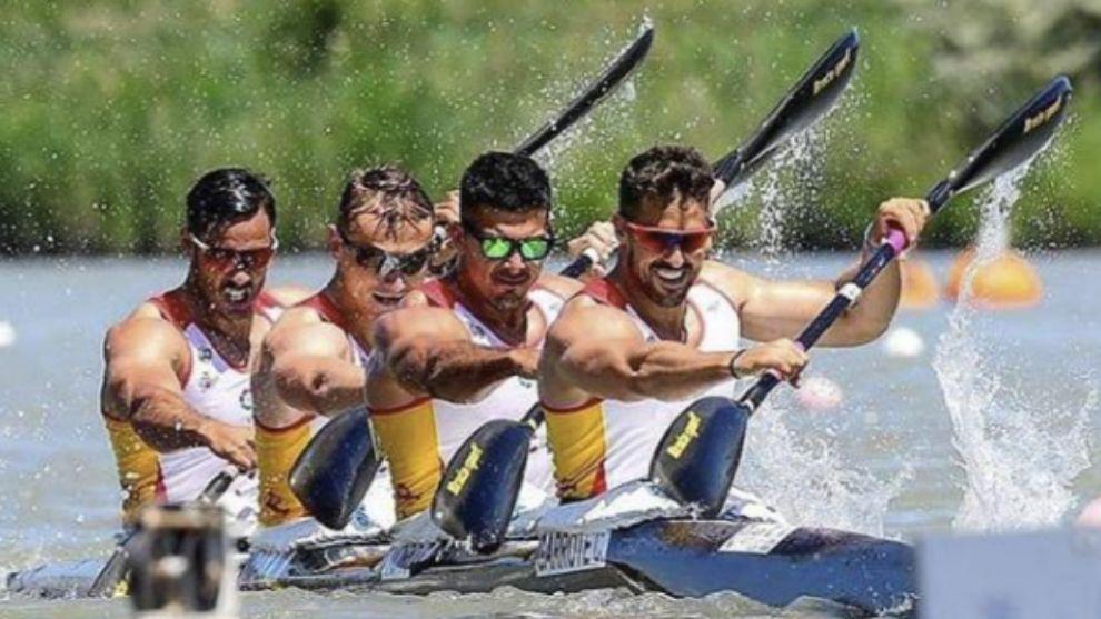 El K4 español en los Juegos Olímpicos de Rio de Janeiro