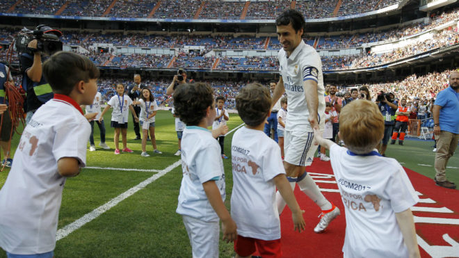 Raúl, en el Bernabéu, el pasado domingo.