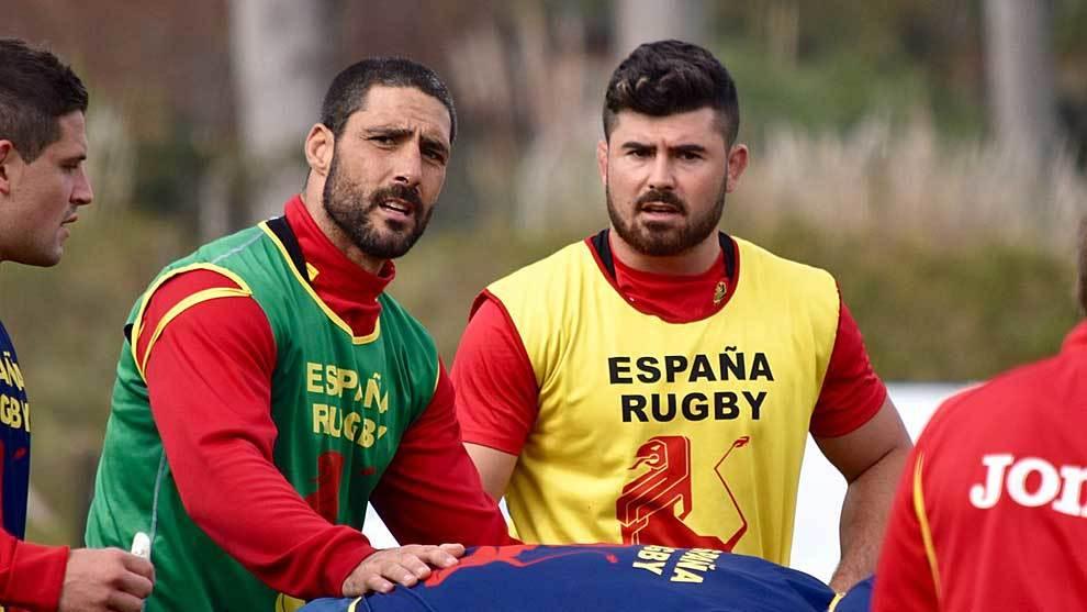 Jaime Nava, durante un entrenamiento de la selección española