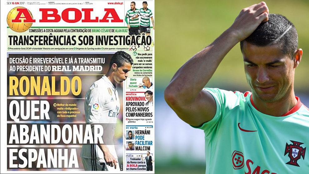 Real Madrid  Cristiano Ronaldo quiere dejar el Madrid  e3fb69265e31c