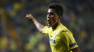 Rodri, en un partido con la camiseta del Villarreal