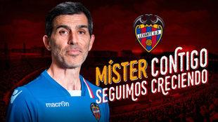 El Levante ha anunciado con esta imagen la renovación de Muñiz.