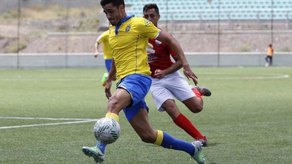 Borja Herrera con Las Palmas Atlético