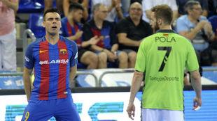 Sergio Lozano, tras marcar el 1-0 al Movistar Inter en el tercer...