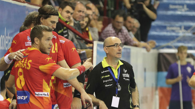 Jordi Ribera durante un partido de los 'Hispanos'