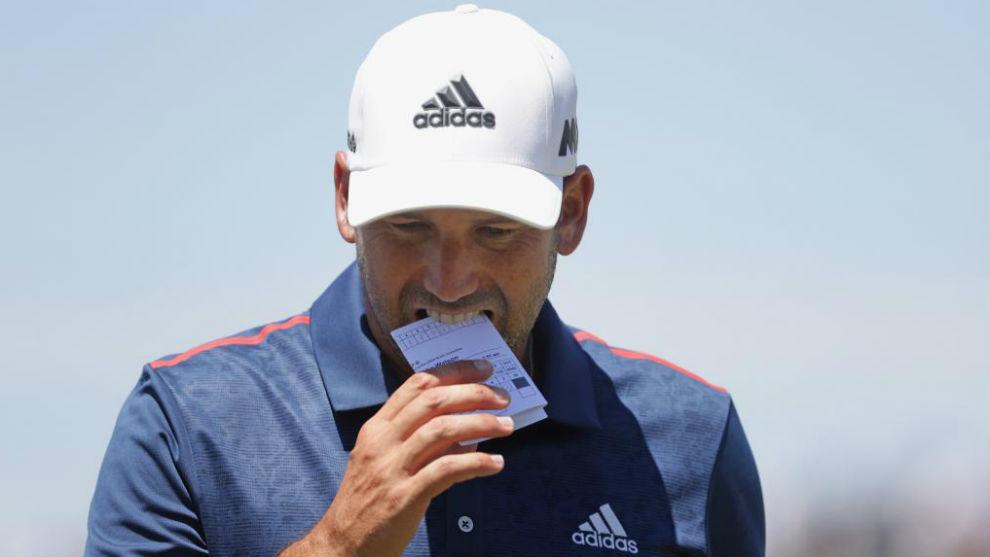 Sergio García, durante la segunda jornada del US Open.