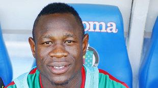 Bassogog (21) posa para MARCA en el partido ante Colombia del pasado...