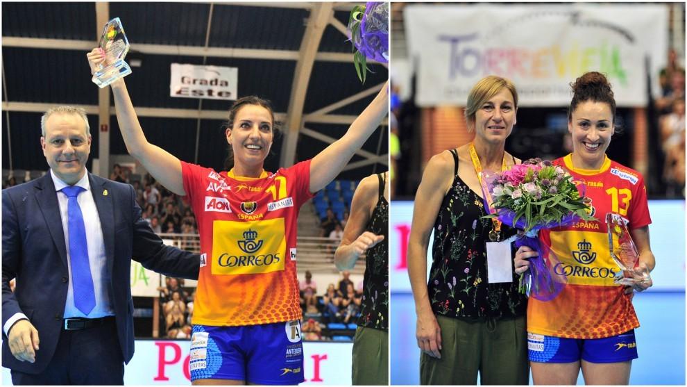 Eli Pinedo y Jessica Alonso, homenajeadas.