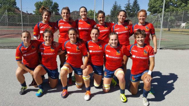 La selección española femenina de rugby 7.