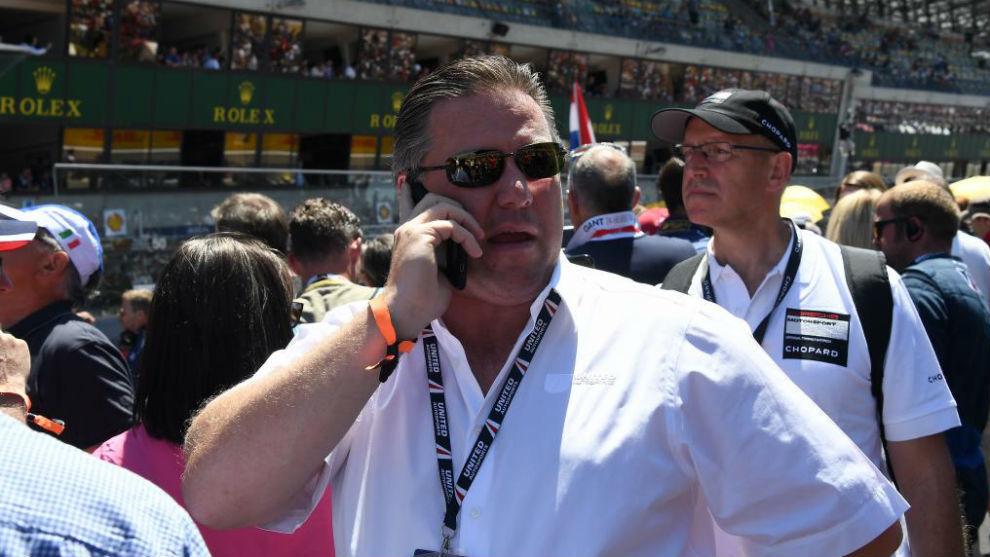 Zak Brown, en la parrilla de Le Mans