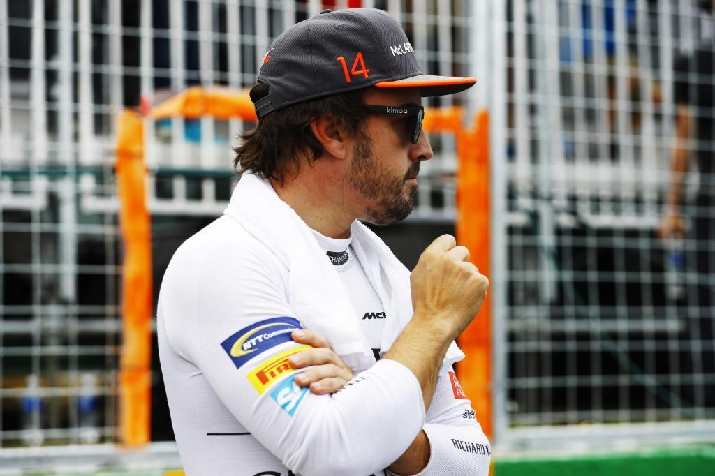 Fernando Alonso en la parrilla de Canadá
